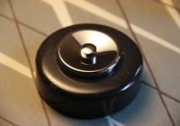 bouton de sonnette marbre noir et chrome