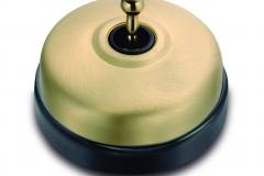 Dimbler porcelaine noire métal laiton brossé