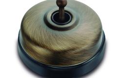 Dimbler porcelaine noire métal bronze