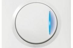 Interrupteur voyant lumineux Legrand Dooxie carré blanc