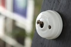 Interrupteur Dimbler porcelaine levier laiton vieille