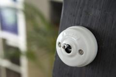 Interrupteur Dimbler porcelaine levier chromé