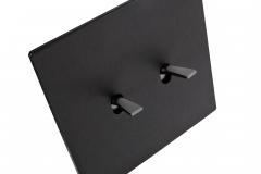Font 5.1 Noir mat brossé, levier nickel noir