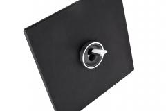 Font 5.1 Noir mat brossé levier chrome avec collerette