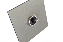 Font 5.1 Alu mat brossé levier chrome mat avec collerette