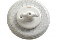 Fontini Garby colonial porcelaine blanche craquelée