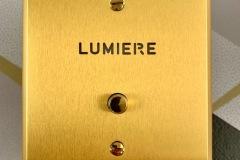 Guichet lumineux Arnould Mémoire Or brossé