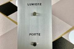 Guichet lumineux Arnould Epure acier brossé