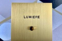 Guichet lumineux Arnould Epure Or brossé