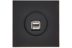 Chargeur USB en Noir Soft Touch