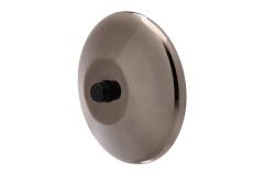 Bouton de sonnette en nickel noir miroir