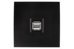Modelec Karo Chargeur USB Noir Satin (208)