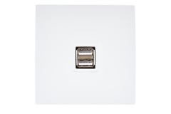 Modelec Karo Chargeur USB Blanc Satin (210)