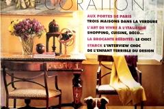 Heure Industrielle citée sur les pages d'ELLE decoration en avril 2001