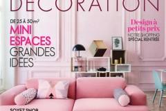 Heure Industrielle citée sur les pages d'ELLE decoration en septembre 2014