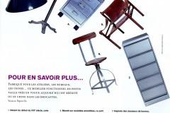 Heure Industrielle citée sur les pages de Marie claire maison en février/mars 2005