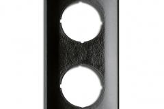 Plaque double THPG Bakélite noire