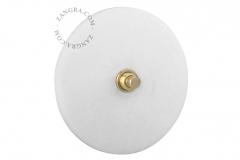 Zangra interrupteur en marbre blanc