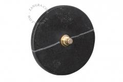 Zangra interrupteur en marbre noir
