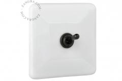 Zangra interrupteur noir porcelaine