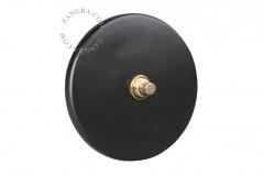 Zangra interrupteur en porcelaine noir mate